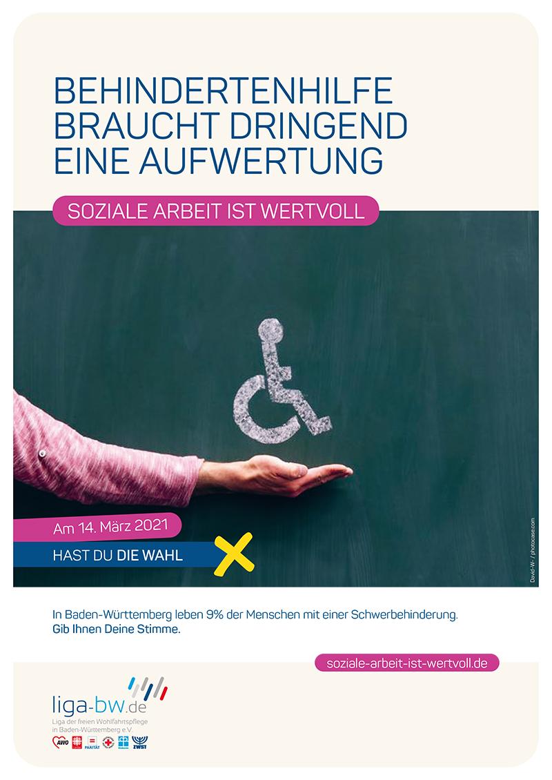 In Baden-Württemberg leben 9% der Menschen mit einer Schwerbehinderung.