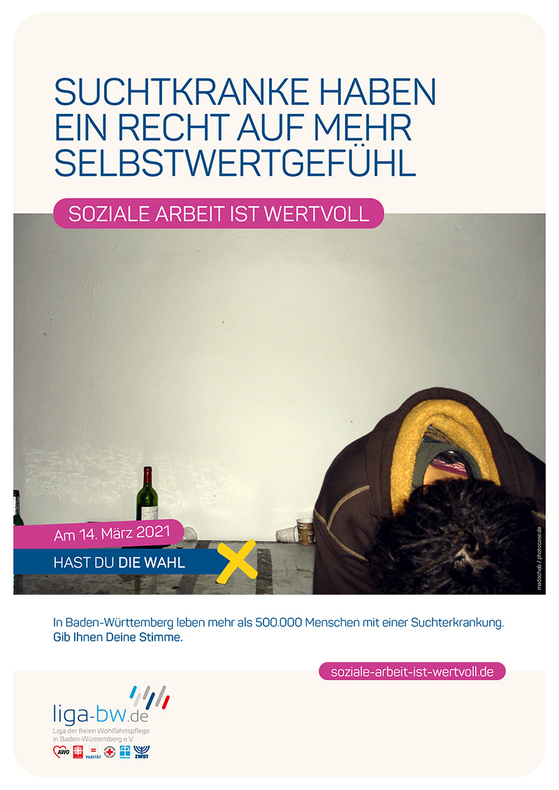 In Baden-Württemberg leben mehr als 500.000 Menschen mit einer Suchterkrankung.